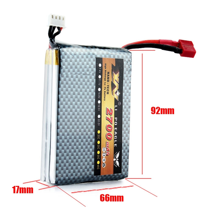 2700mAh High Discharge Lithium Polymer Battery For RC Drone Helicopte
