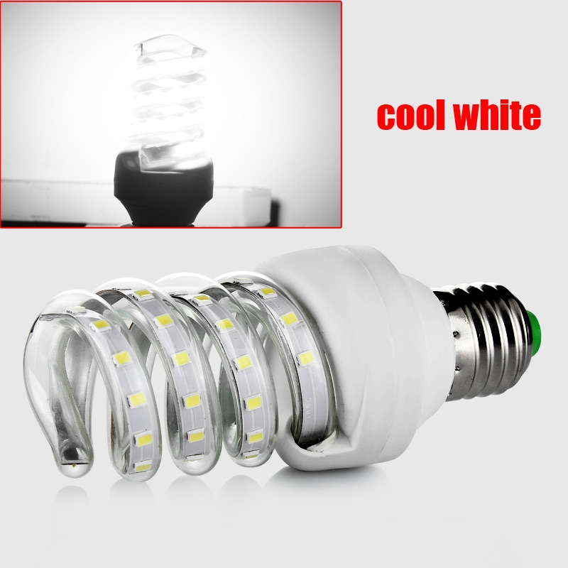 E27 9W 2835SMD 48 LED Energy Saving Spiral Lamp Bulb Light ...