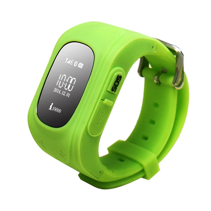 Kid Anti-Lost GPS Positioning Smart Wristwatch SOS Security Monitor Green