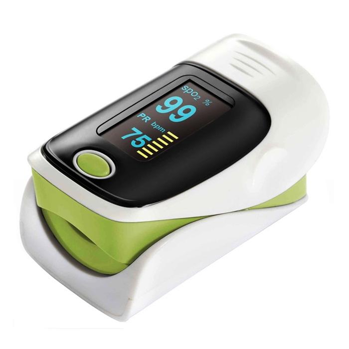 Finger Blood Oxygen Meter SPO2 OLED Pulse Heart Rate Monitor Oximeter Green