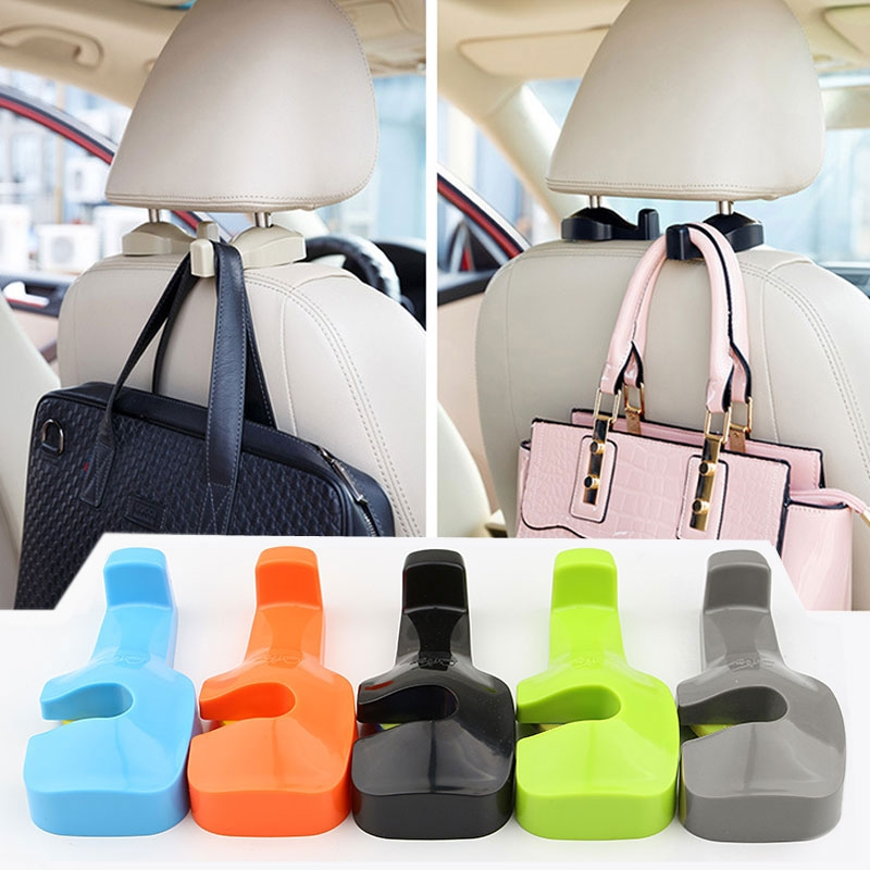 Universal Car Interior Back Seat Headrest Hanger Holder Hidden Hook