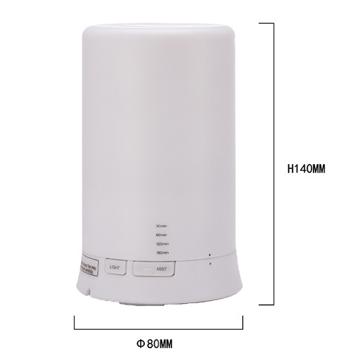 100ml Ultrasonic Aroma Diffuser Air Purifier Atomizer Mist Fragrance