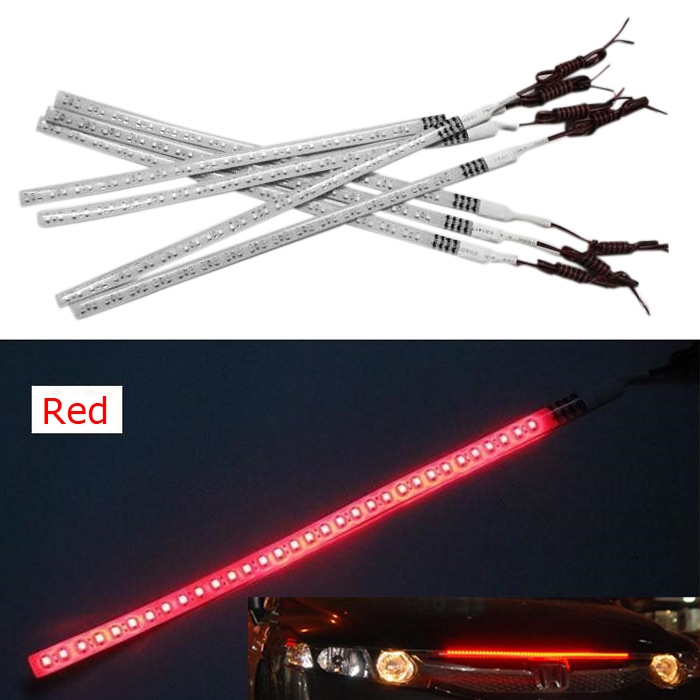 1210 SMD Car Knight Rider Light 32LED Running Flash Strip Lamp 30cm Red 12V
