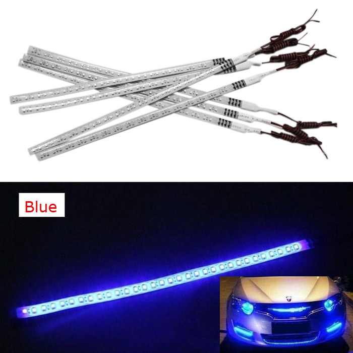 1210 SMD Car Knight Rider Light 48 LED Running Flash Strip Lamp 60cm Blue