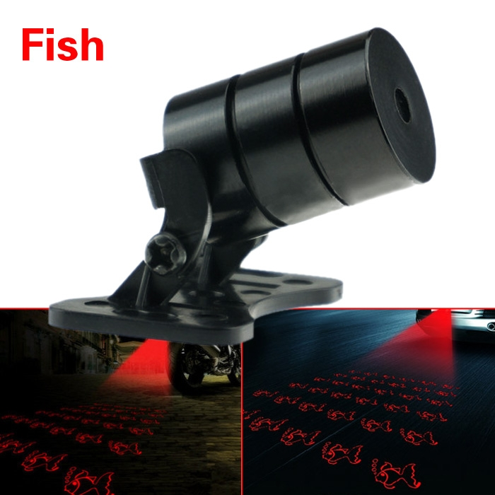 Car Laser Fog Lamp Rear Anti-Collision Taillight Warning Signal Alarm Light