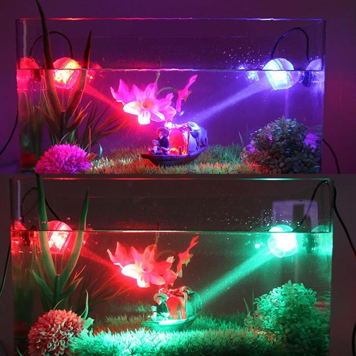 Aquarium fish tank glowing led underwater spotlight marine for Glow fish tanks