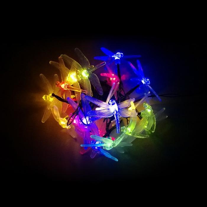 Colored String Lights For Bedroom : 20 LED Solar Dragonfly Fairy String Light Bedroom Garden Decor Multi Colors 66