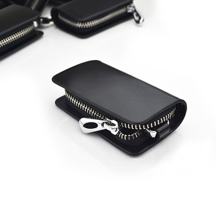 Genuine leather car key holder keychain ring case bag for for Mercedes benz key holder