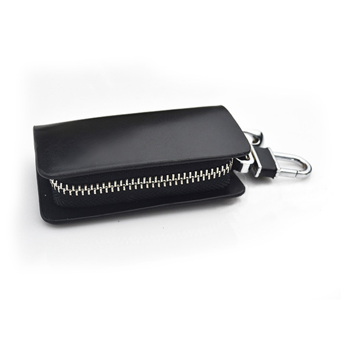 Fashion genuine leather car key holder keychain ring case for Mercedes benz key rings for sale