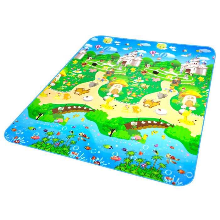 baby puzzle play floor mat cushion activity happy farm rug crawling carpet 66 ebay. Black Bedroom Furniture Sets. Home Design Ideas
