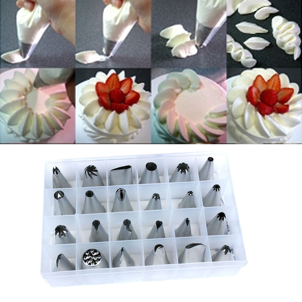 piping nozzles pastry tips cake sugarcraft decorating tool set ebay