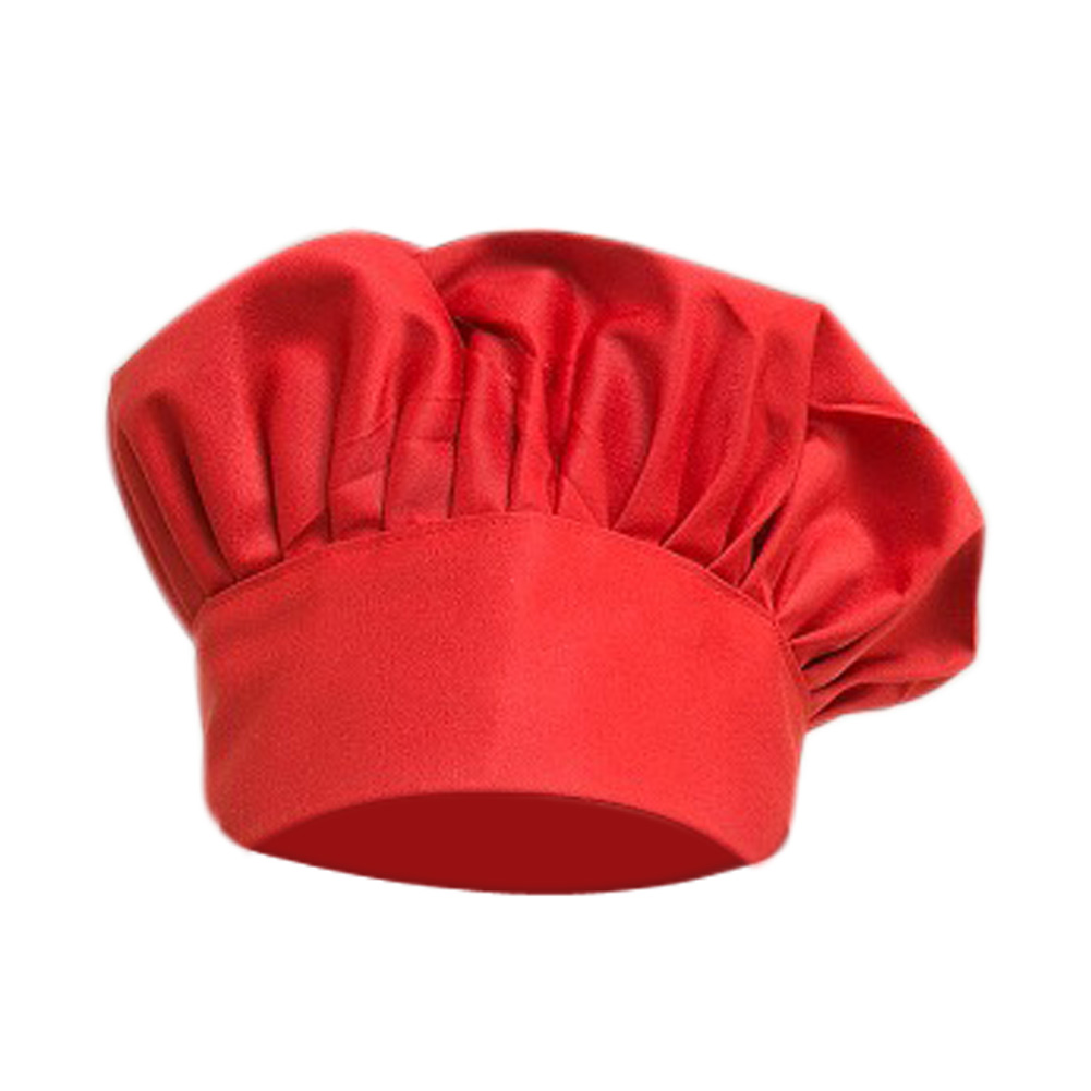 cool new unisex durable pleated cotton chef hat with
