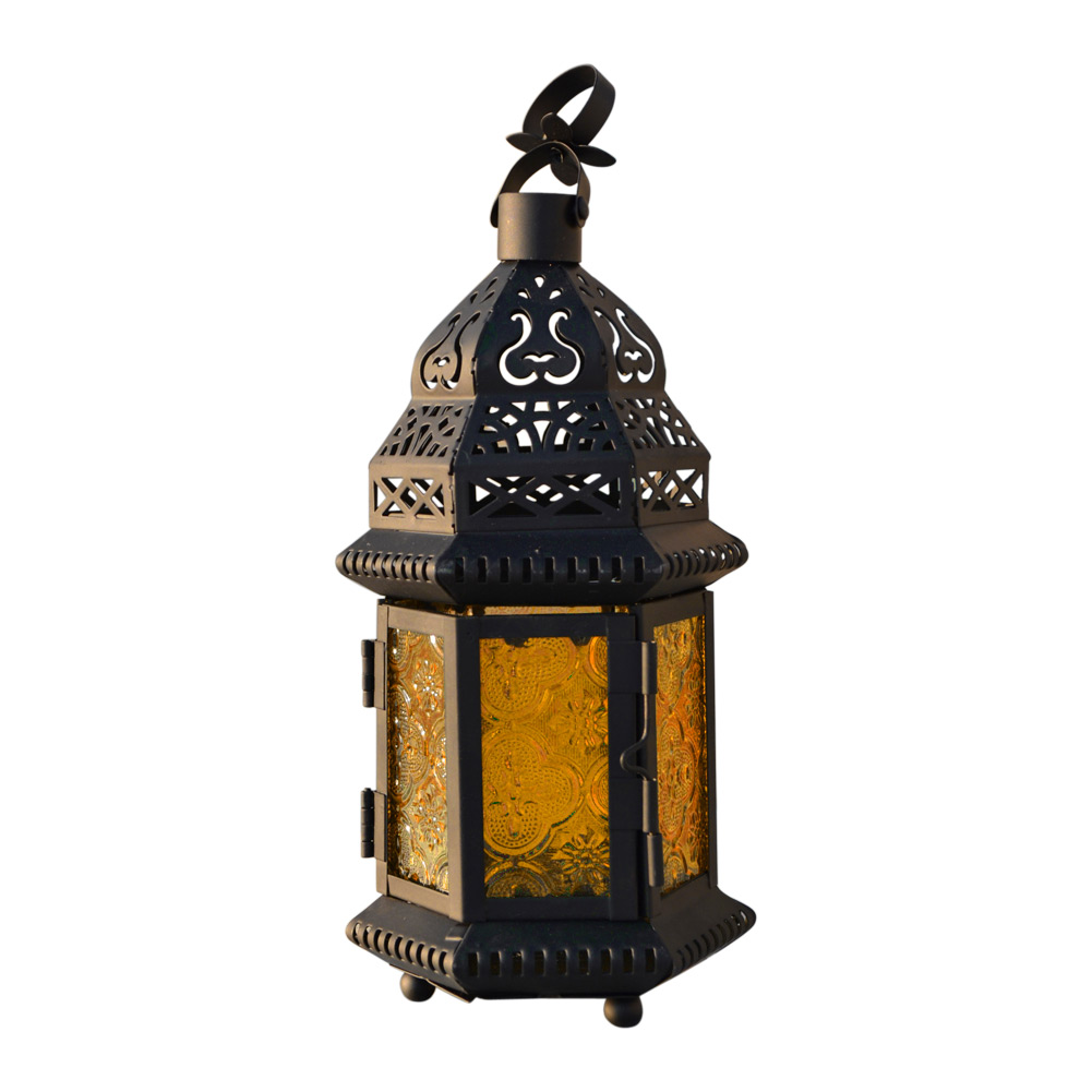 Moroccan Vintage Glass Metal Delight Garden Candle Holder
