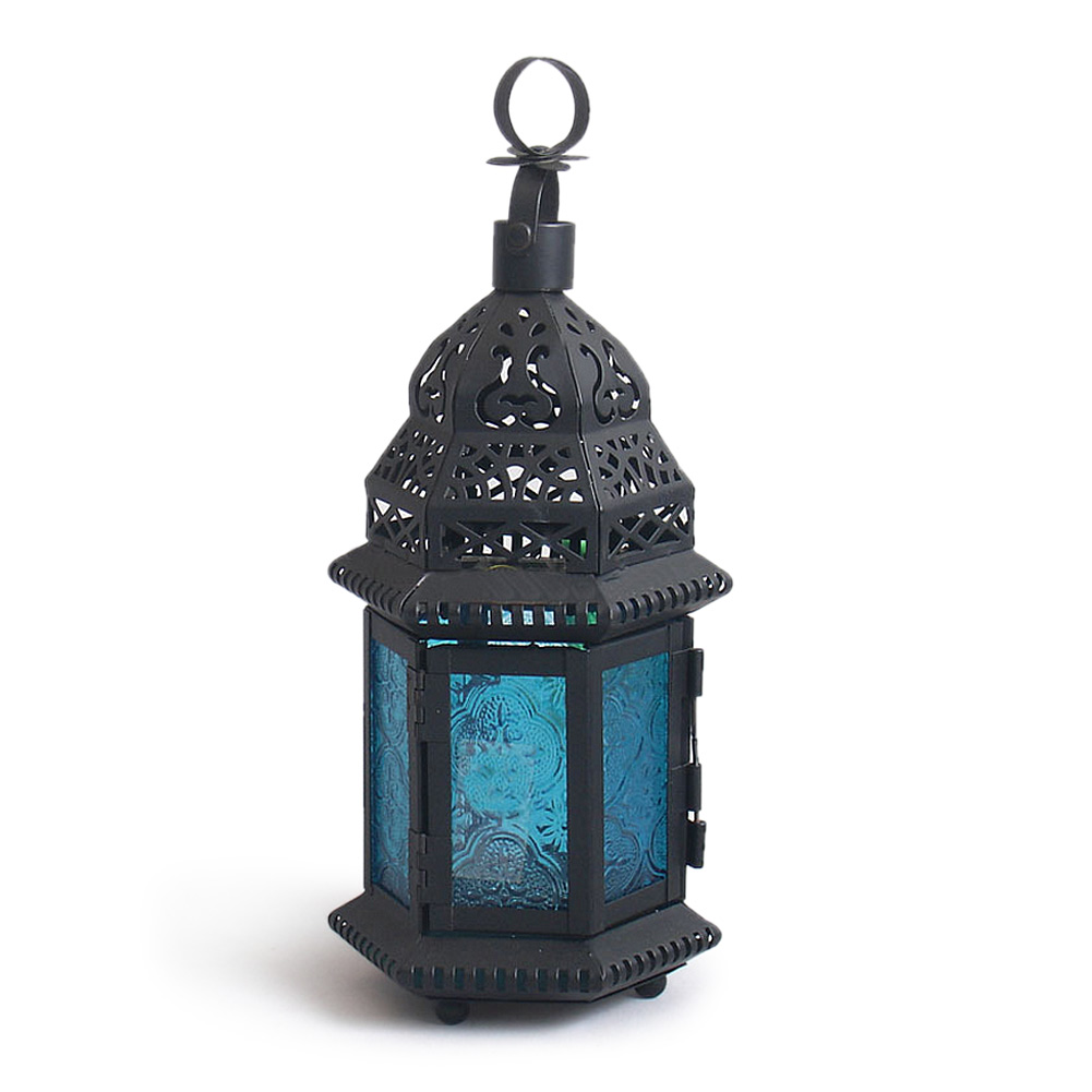 Cool Glass Metal Moroccan Delight Garden Candle Holder Table/hanging Lantern