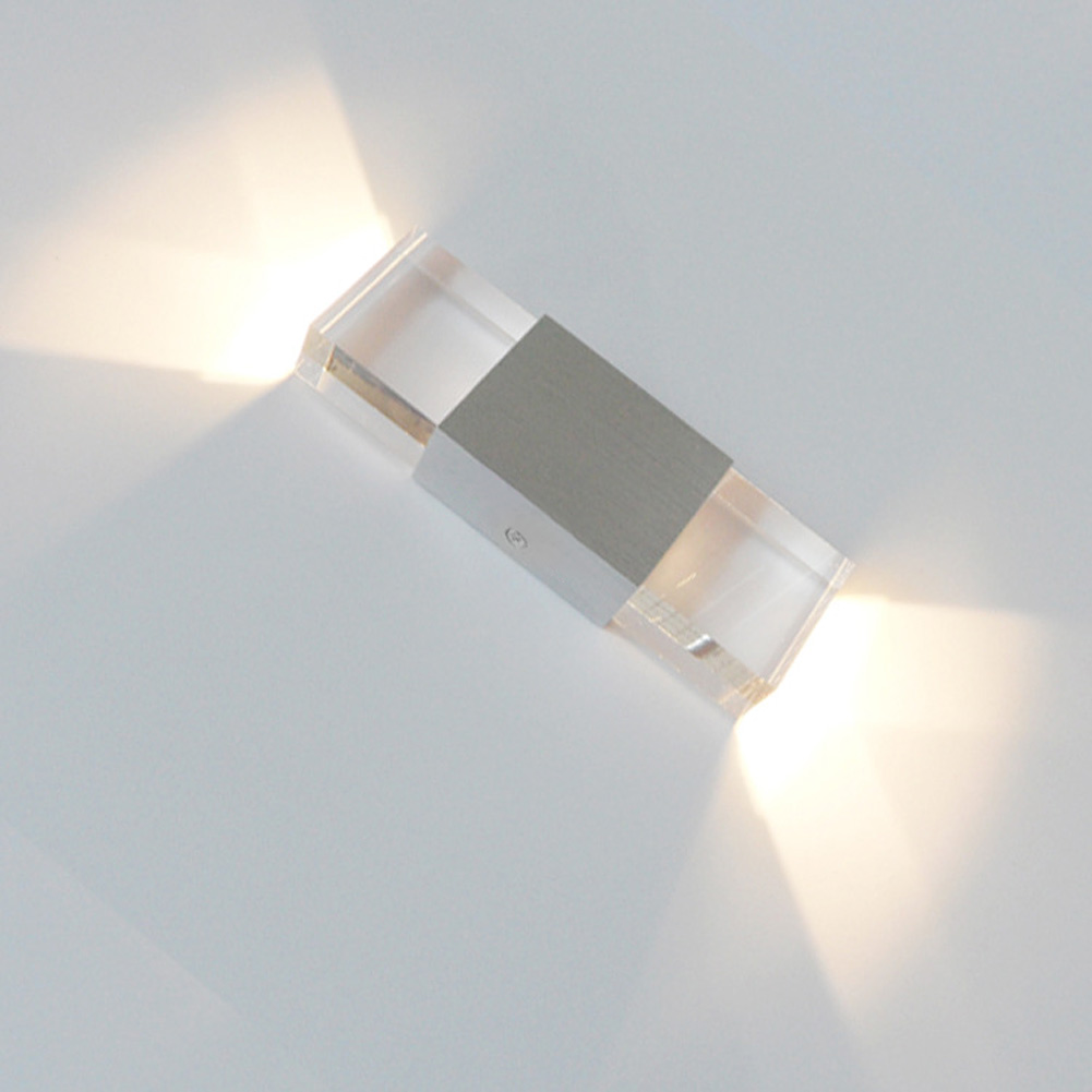 Metal Wall Sconce Light Fixtures : 2W LED Crystal Wall Fixtures Lamp Square Shaped Wall Light Sconce Lighting NEW eBay