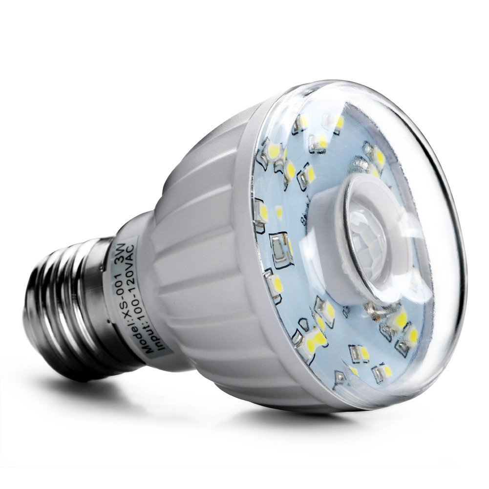 3w E27 Led Pir Motion Sensor Auto Lamp Bulb Infrared Light Lamp Auto Detector Ebay