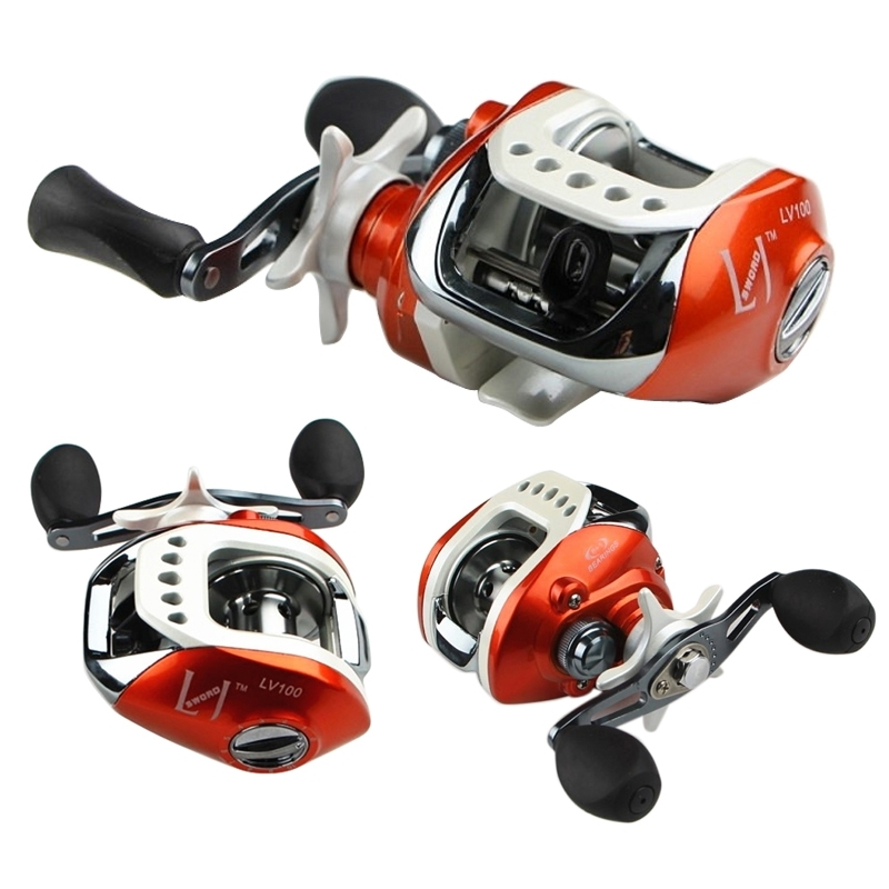 8+1 BB Bearing Baitcasting Reel Fishing Reel 6.3:1 Right /Left Hand FLV/LV