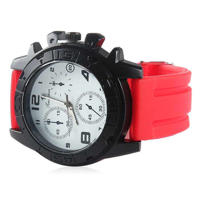 Fashion Unisex Rubber Band Sports Quartz Analog Wrist Watch Watches