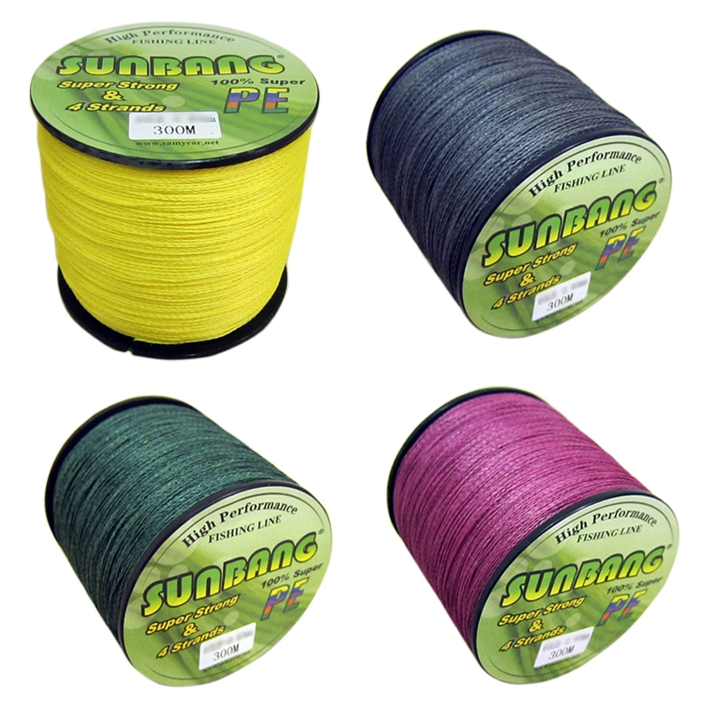 High Strong Color PE Braided Fishing Line 300M Freshwater Saltwater # 0.6
