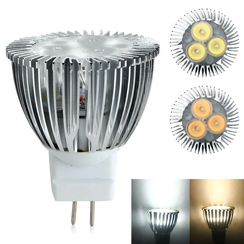 Super Bright MR11 3W AC DC 12V 3x LED Spot Light Bulb Lamp Efficient