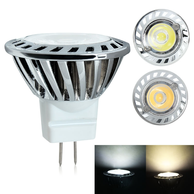 MR11 1W AC DC 12V Downlight Spot Light Warm /Cool White CREE LED Bulb Lamp