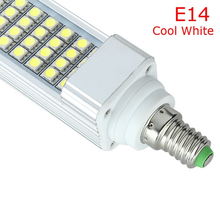 10-12W E14 Cool White 52 LED 5050 SMD Ceiling Down Spot Light Lamp Bulb