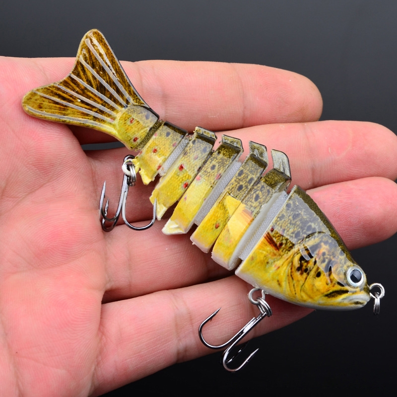 3.93? Multi-sections Jointed Fishing Lure Plastic Swimbait 15.5g Look Real