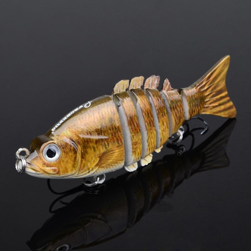 3.5? High Lifelike Hard Plastic Fishing Lures 6 Segments Swimbait Hook 11g