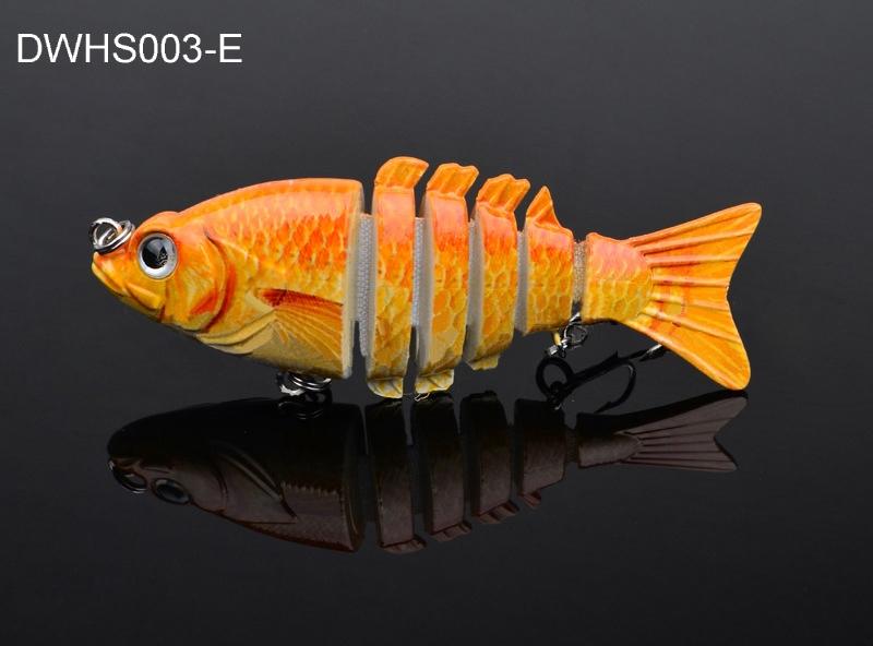 3.5? Life Like Swim Bait Fishing Bait Multi Jointed Lures Sinking Rattle