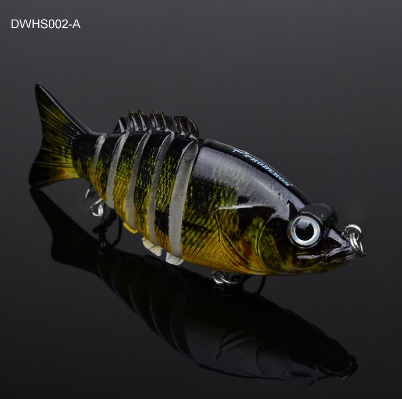 4.06? 6-Section Muiti Jointed Fishing Swimbait Crankbait Bass Lure 20.7g