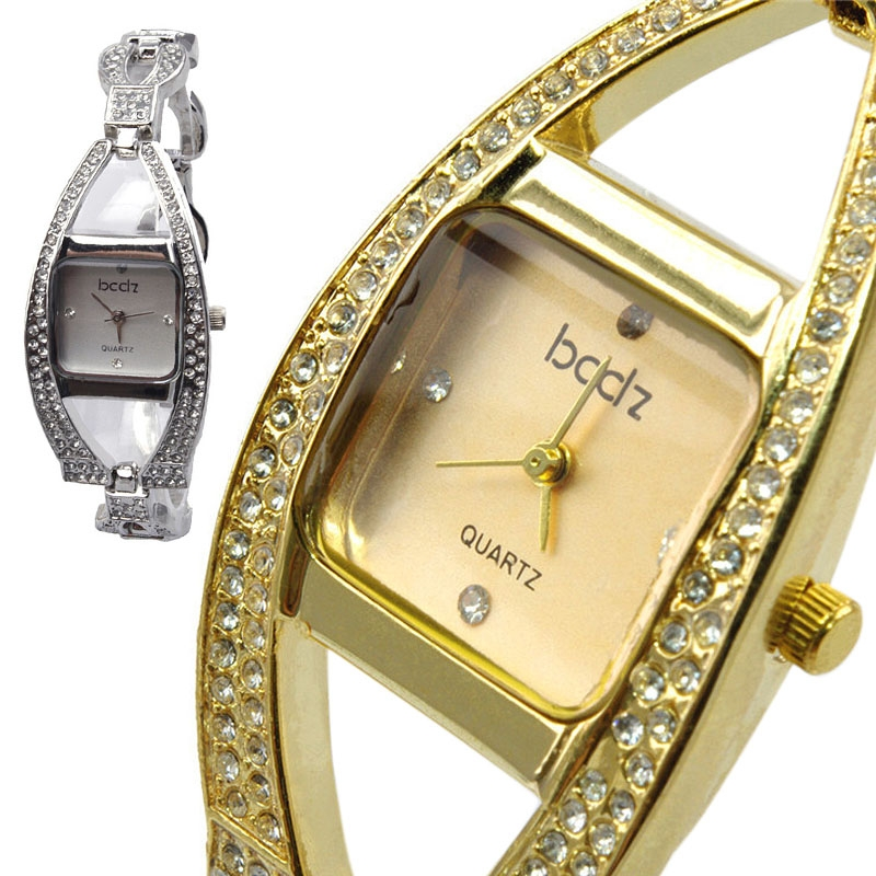 Simple Charming Women�s Cambered Crystal Convex Dial Quartz Wrist Watch