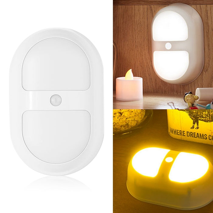 Auto ON/OFF IR Motion Sensor Detector LED Bedroom Night Light Lamp