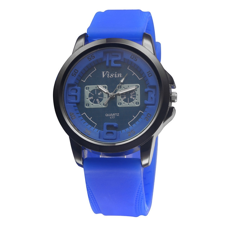 New Fashion Unisex Silicone Rubber Strap Women Men Sports Wrist Watch
