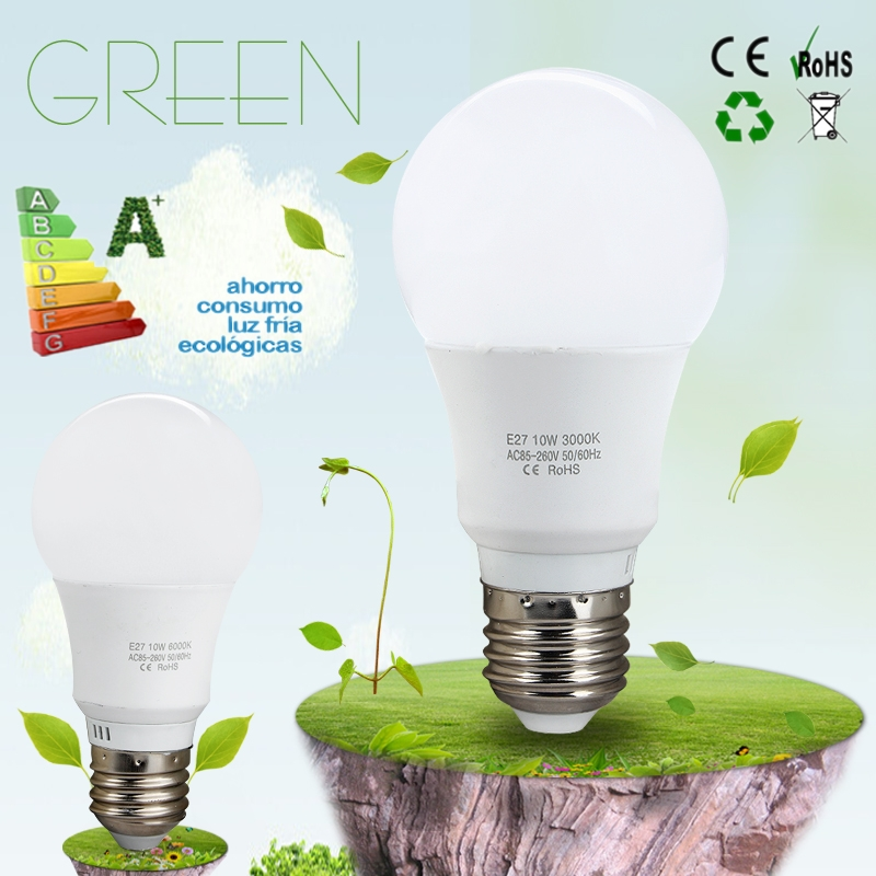 High Power Saving Light AC 85-265V E27 10W LED Bulb Lamp Warm/Cool White