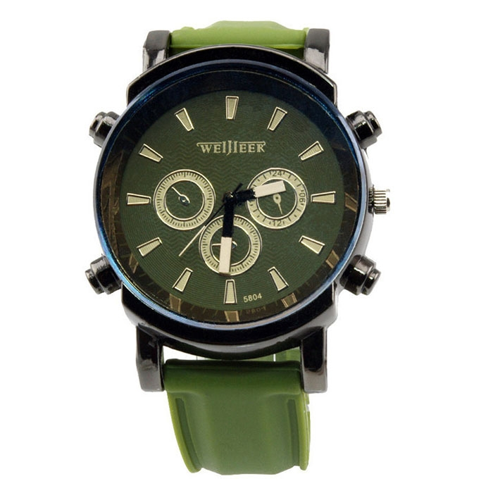 Fresh Jelly Unisex Silicone Band Round Dial Students Sport Quartz Watch