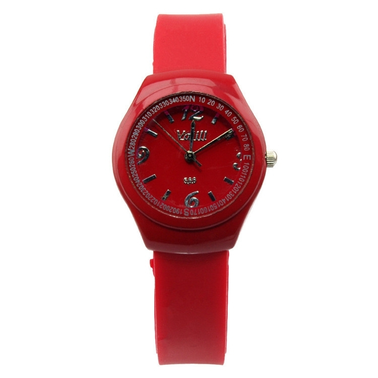 Fashion Lady Girls'Candy Jelly Color Silicone Strap Quartz Sports Watch