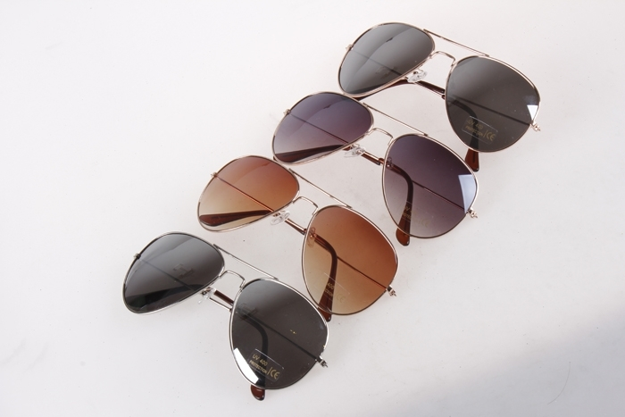 Men Women Oversized Frog Mirror Gold/Silver Frame Aviator Cool Sunglasses
