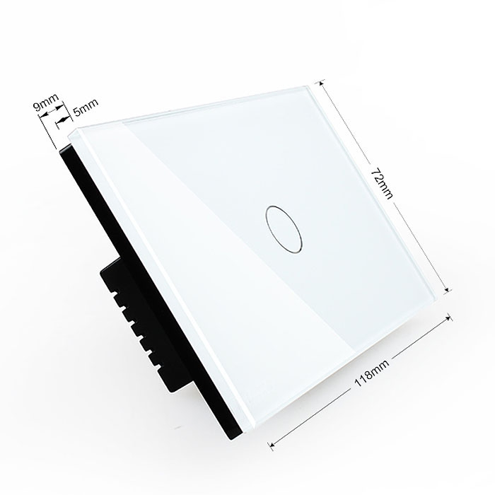 Waterproof Rectangle Smart Touch Screen Dimmer Wall Switch For Light Bulb