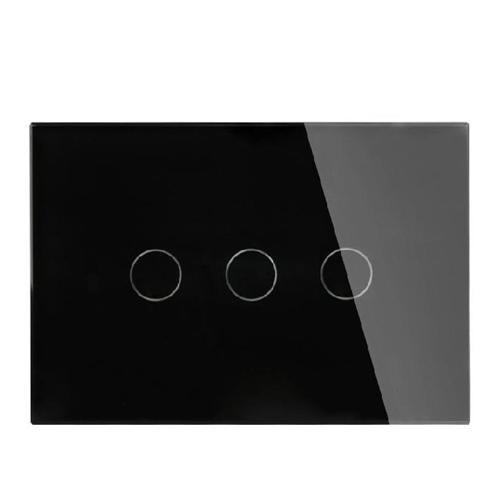 Black/White 2 Ways Home Crystal Glass Panel Touch Screen Switch For Light