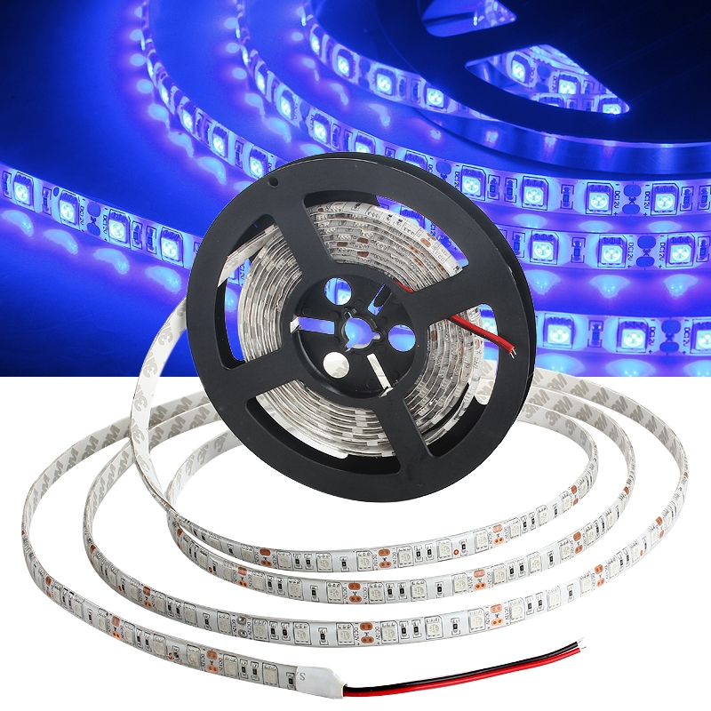 5M 5050 SMD Flexible Strip LED Light Waterproof DC 12V 300 led Blue Lamp