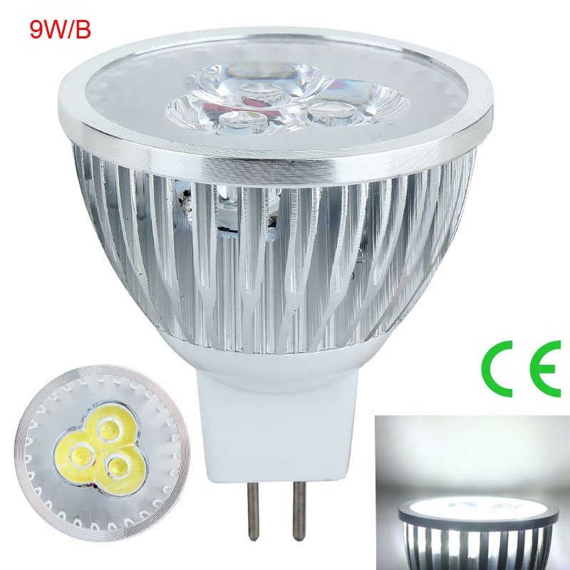 10PCS 9W GU10 LED Spotlight Lamps Cool White Non-Dimmable 12V B Type