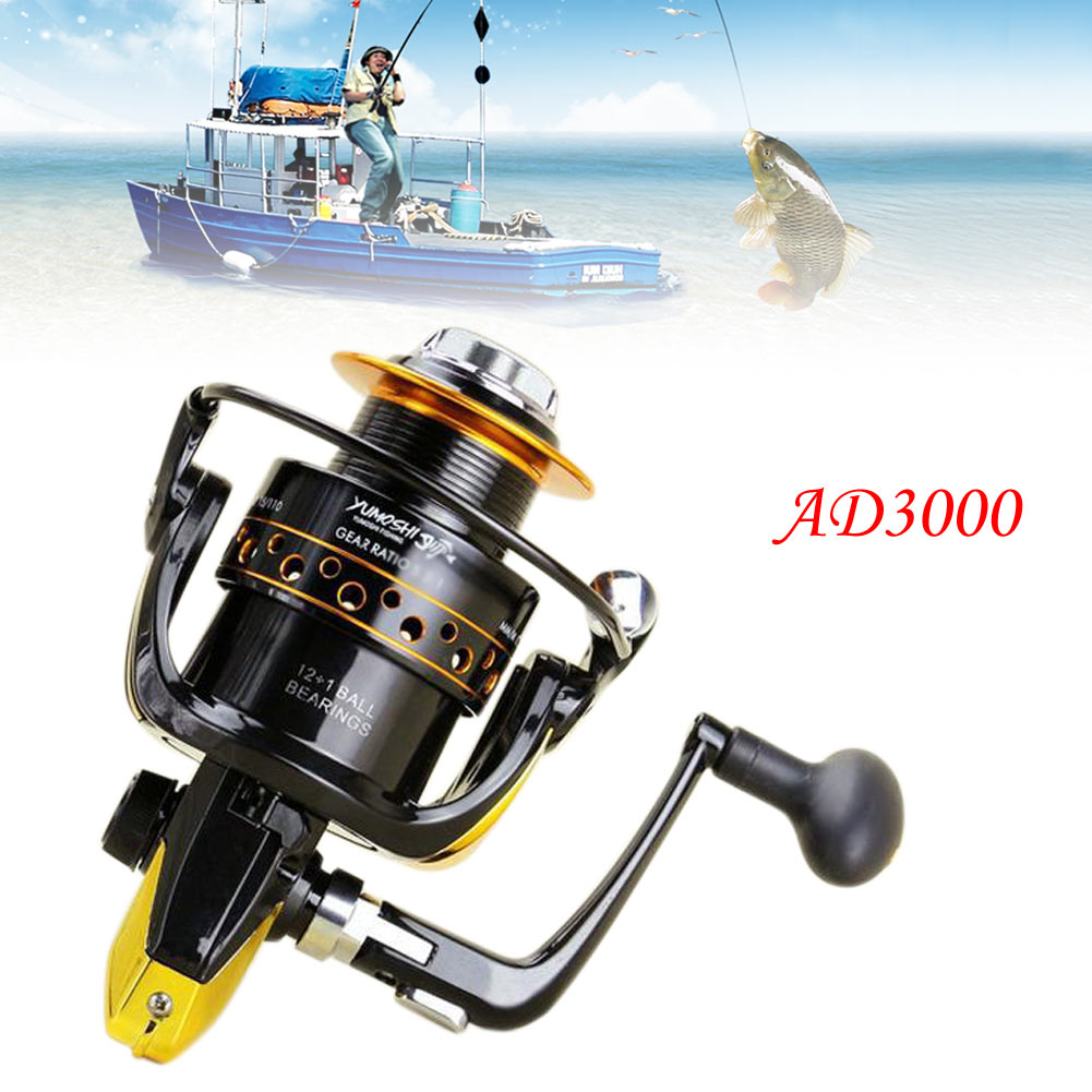 12 1bb speed fish spinning reel metal spool for for Freshwater fishing reels