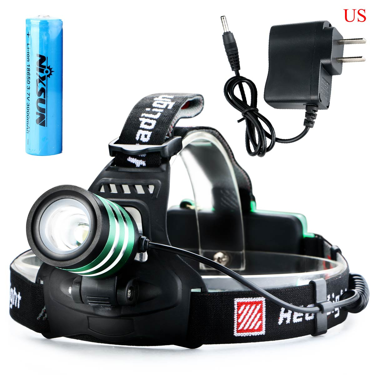 sale 3000Lm CREE XML T6 LED Rechargeable Zoom Headlamp ...