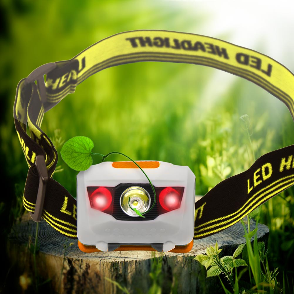 Super Bright R3+2LED 600LM Mini Headlight 4 Modes Head Lamp Torch For Camping