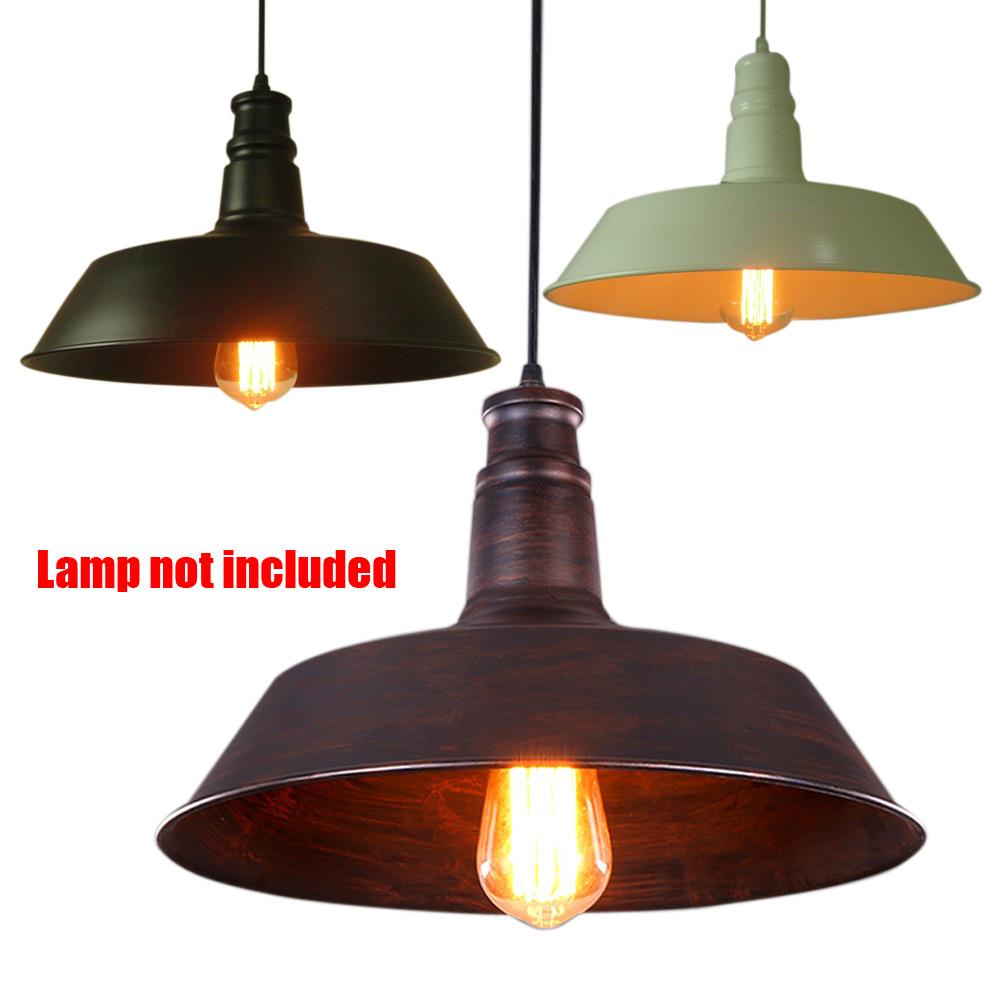 Retro Pendant Ceiling Light Iron Lamp Shade Vintage