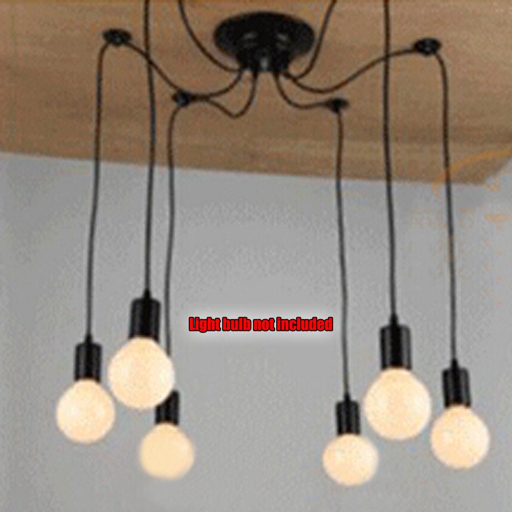 Vintage multiple ajustable diy ceiling spider lamp light pendant lighting edison ebay - Diy ceiling lamps ...