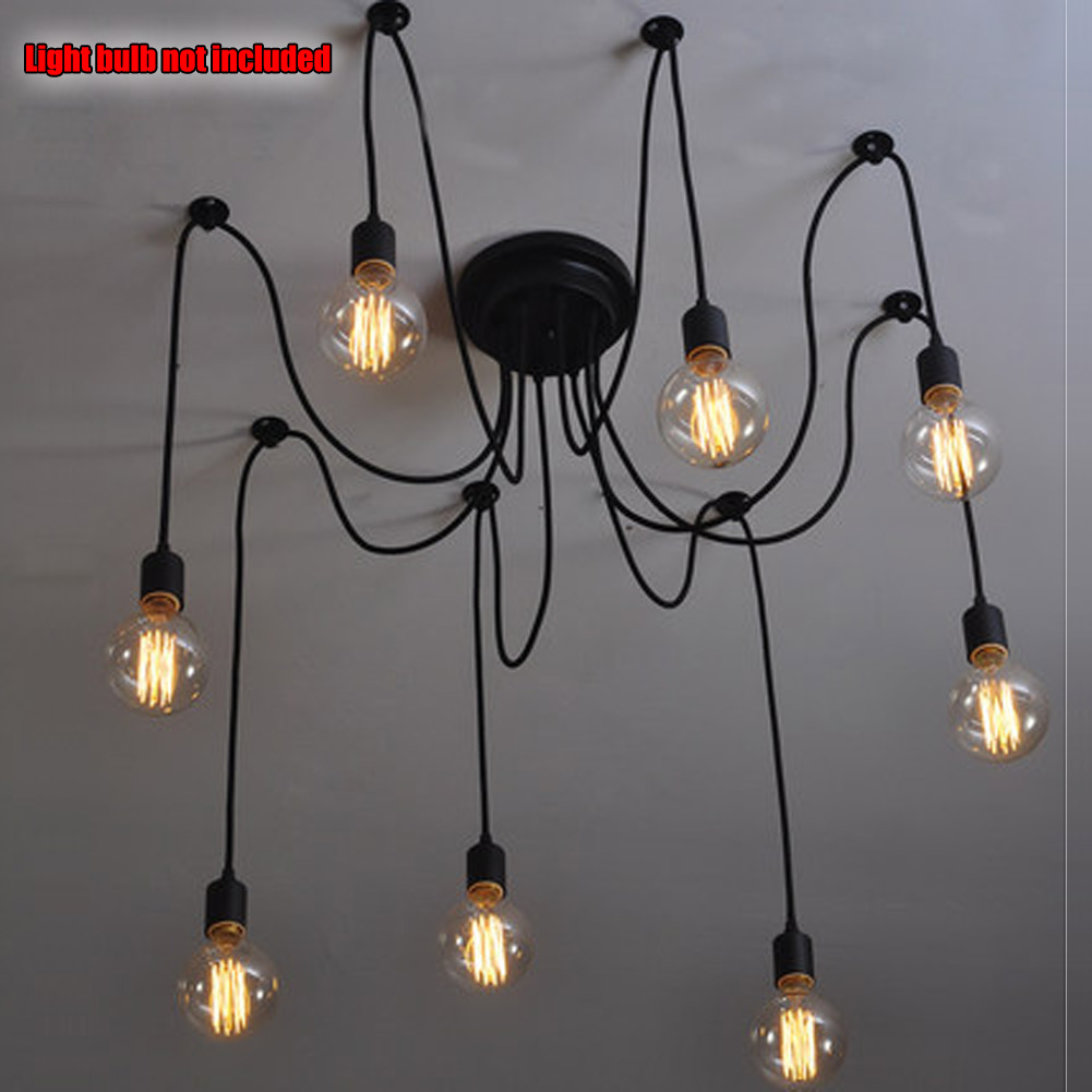 dp amazon pendant com loft edison vintage wire industrial fuloon lighting lamps retractable ceiling adjustable pulley lights light black