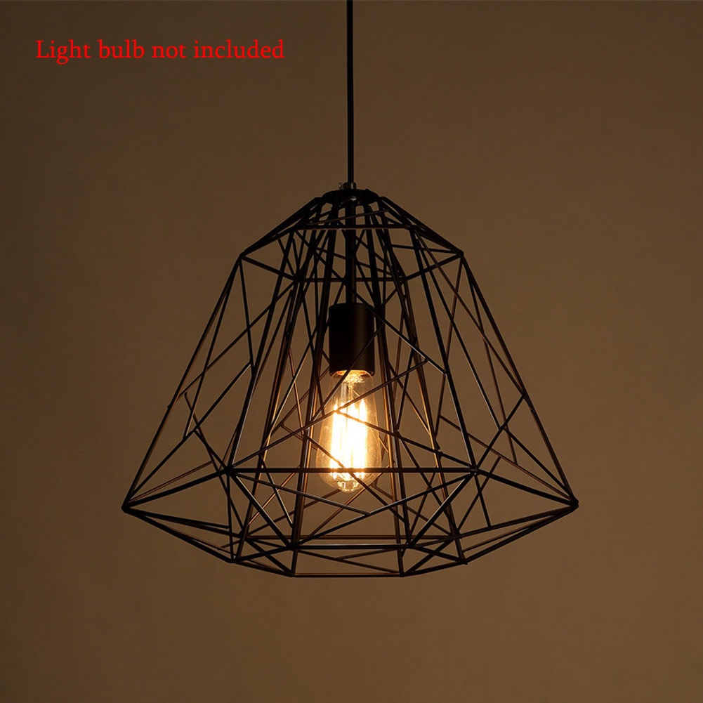 Modern Minimalist Bird Cage Led Pendant Lamp Diamond