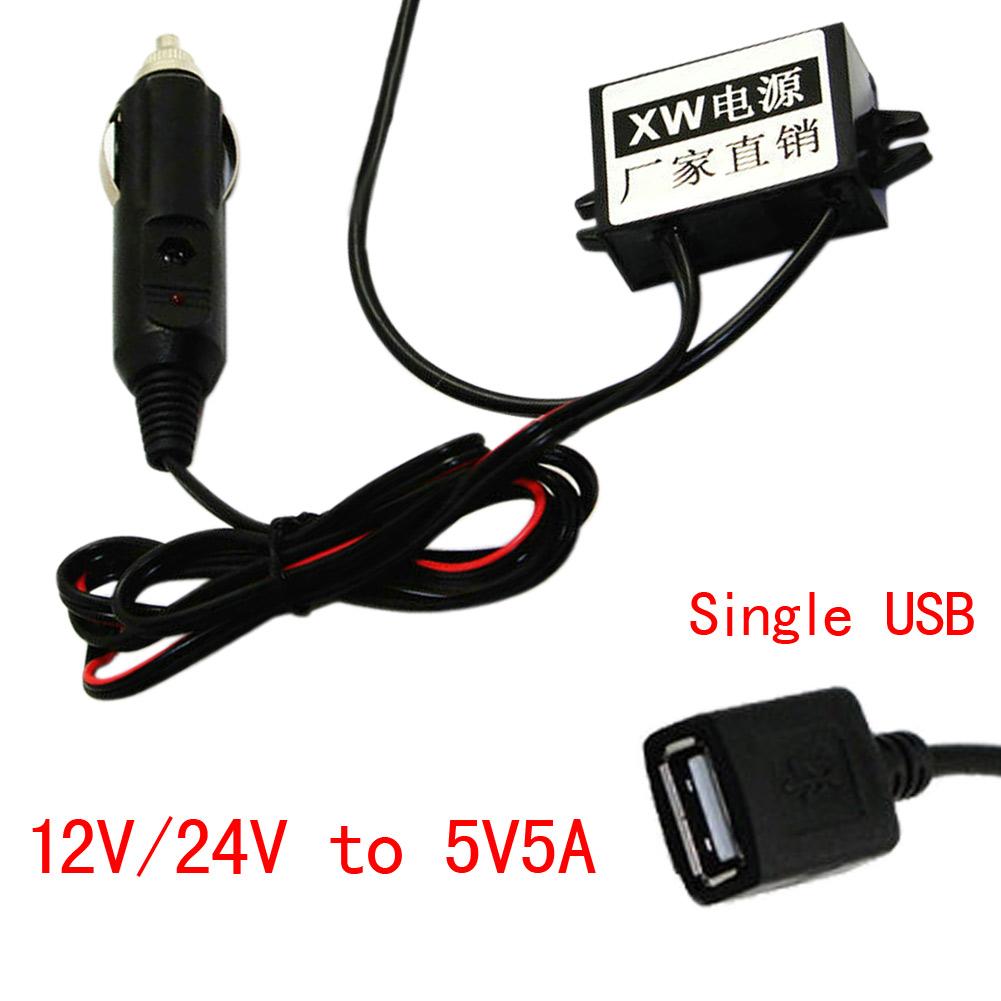 12v 24v to 5v 5a buck converter cigarette lighter to usb car power adapter ebay. Black Bedroom Furniture Sets. Home Design Ideas