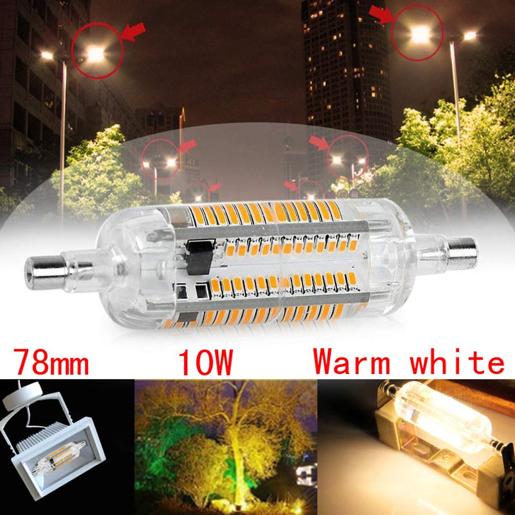 HOT R7S 78/18mm 3014 SMD LED Horizontal Plug Corn Light Silicone Lamps 10W/15W